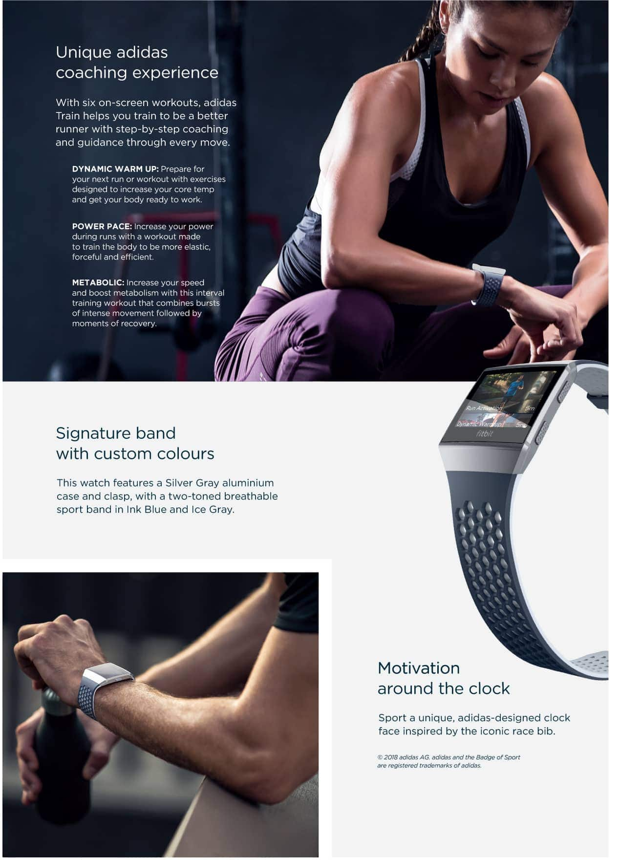 Fitbit Ionic Adidas Info Specifications Page 2
