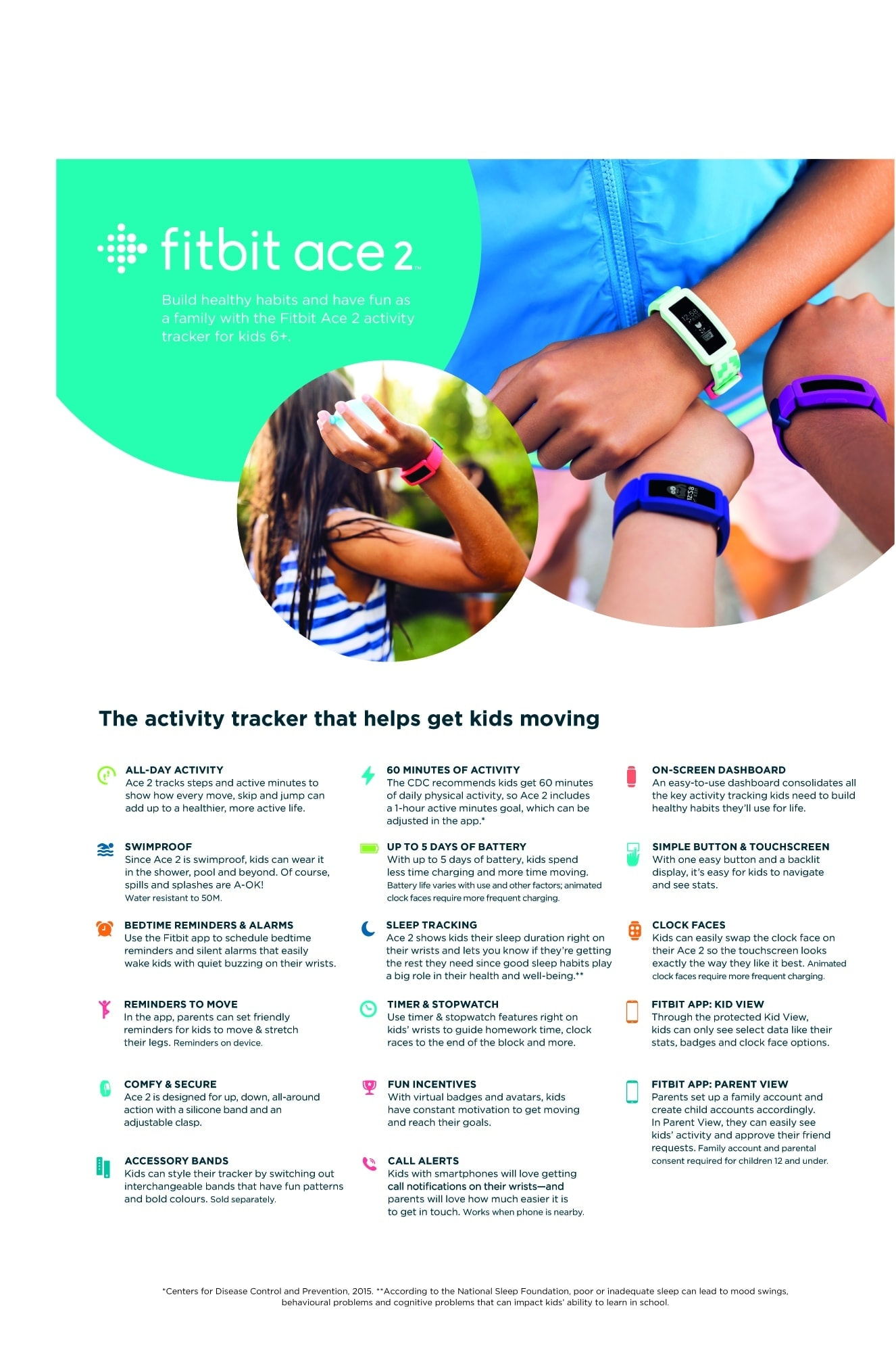 Fitbit Ace 2 – Product Specifications