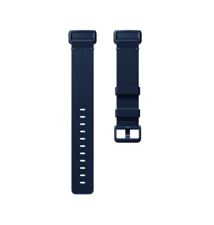 Fitbit Charge 3 Flat Leather Mdnight Blue Band - Singapore