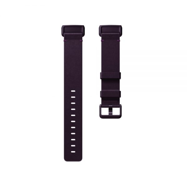 Fitbit Charge 3 Flat Leather Plum Band - Singapore