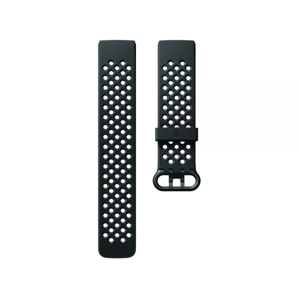 Fitbit Charge 3 Flat Sport Black Band - Singapore