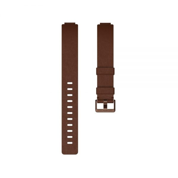 Fitbit Inspire Flat Leather Cognac Band - Singapore
