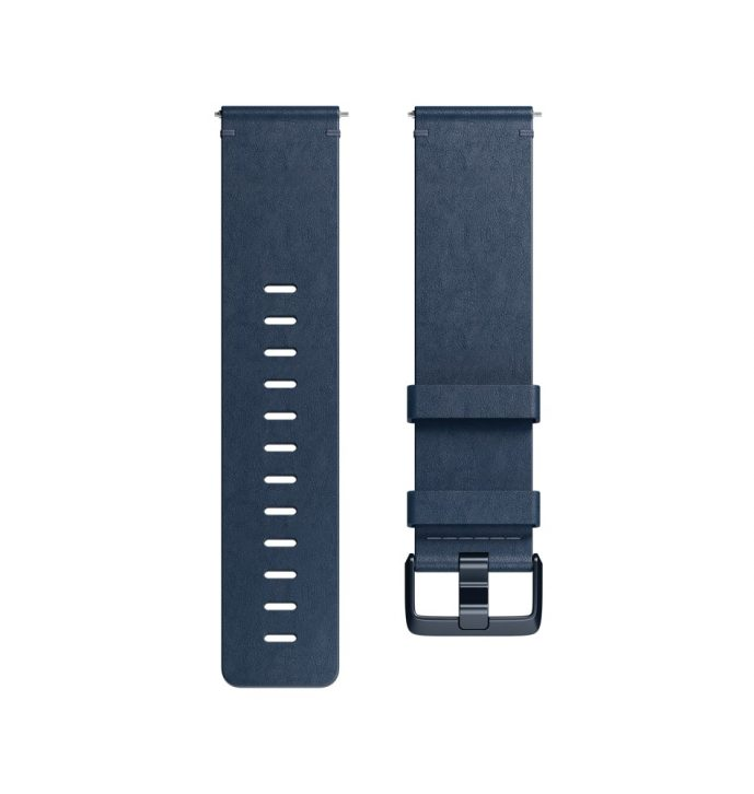 Fitbit Versa Leather Midnight Blue Bands - Singapore