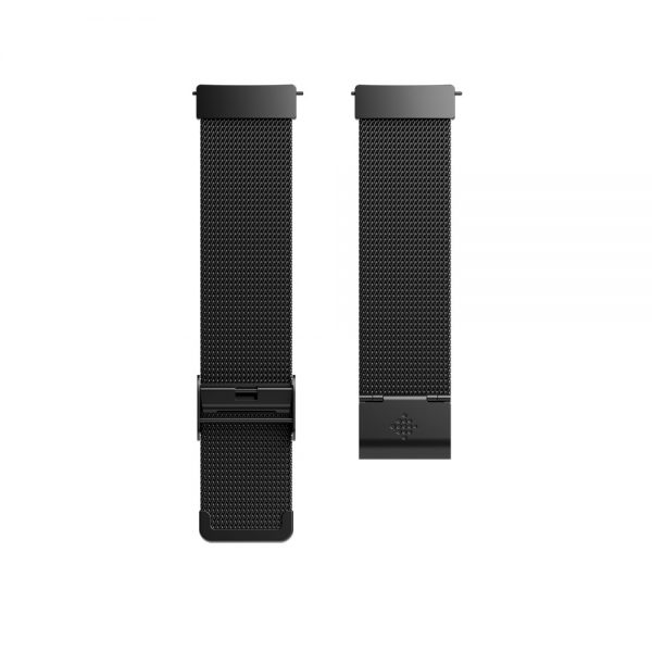 Fitbit Versa Stainless Steel Mesh Black Bands - Singapore