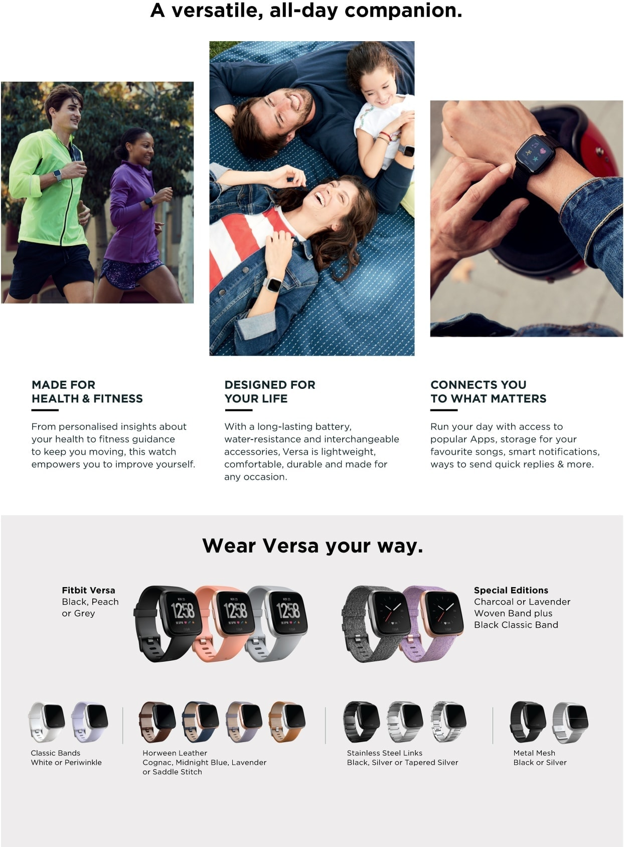Fitbit Versa Black Info Specifications Page 2