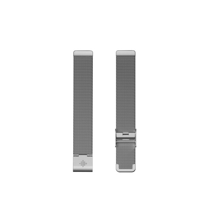 Fitbit Inspire Flat Metal Mesh Silver Band - Singapore