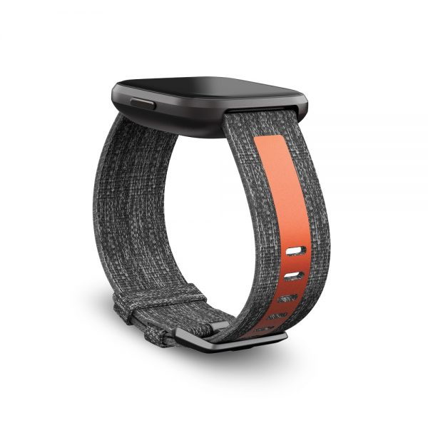 Fitbit_Versa2_Dramatic_Woven_Reflective_Charcoal_Orange_Carbon_Band
